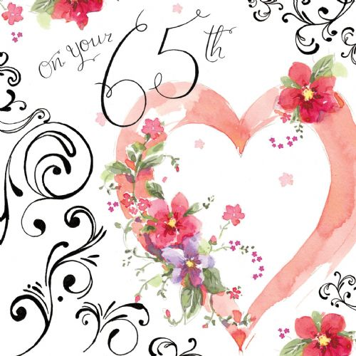 NES17 – 65th Birthday Card For Her